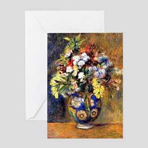 Renoir: Flowers in a Vase Greeting Card