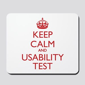 KEEP CALM and USABILITY TEST Mousepad