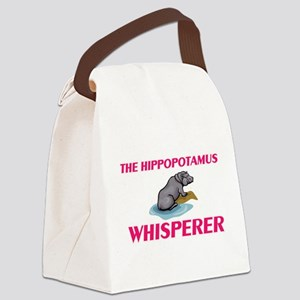 The Hippopotamus Whisperer Canvas Lunch Bag