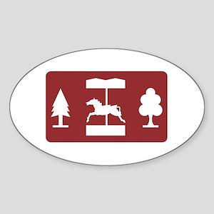 Theme Park, UK Oval Sticker