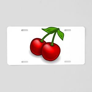 Two Cherries Aluminum License Plate