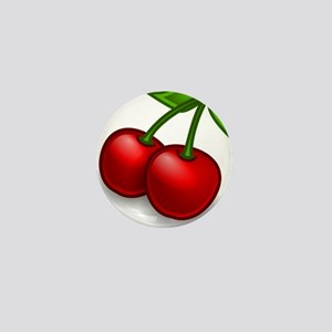 Two Cherries Mini Button