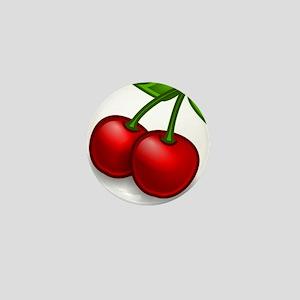Two Cherries Mini Button