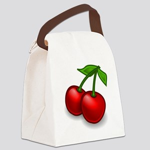 Two Cherries Canvas Lunch Bag