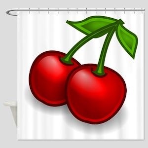 Two Cherries Shower Curtain