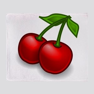 Two Cherries Throw Blanket