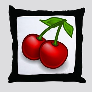 Two Cherries Throw Pillow