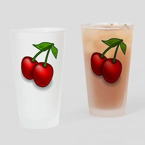 Two Cherries Drinking Glass