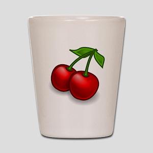Two Cherries Shot Glass