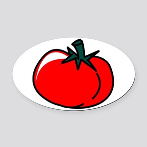 Tomato Oval Car Magnet