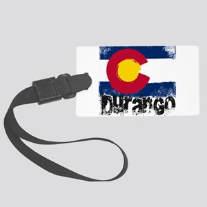 Durango Grunge Flag Large Luggage Tag