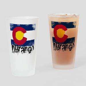 Durango Grunge Flag Drinking Glass