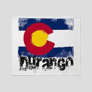 Durango Grunge Flag Throw Blanket