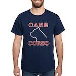 Cane Corso Logo Red Dark T-Shirt