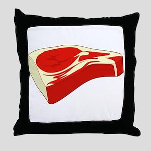 Steak Throw Pillow