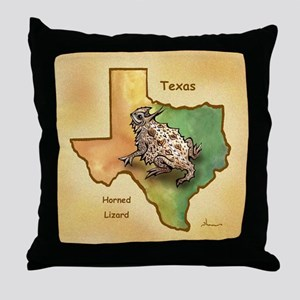 Texas Symbols Throw Pillow