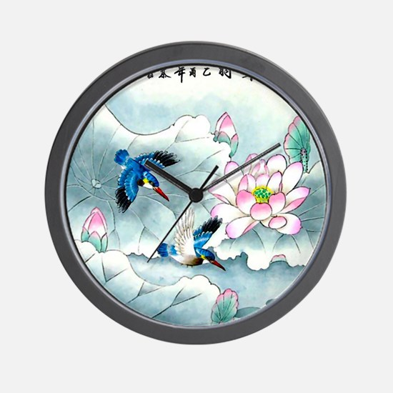 Birds and Floral Wall Clock
