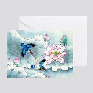 Birds and Floral Greeting Card