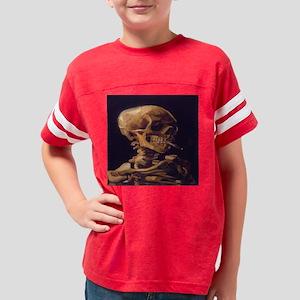 Skull_with_a_Burning_Cigarett Youth Football Shirt