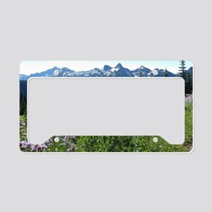 Mount Rainier Wildflowers License Plate Holder