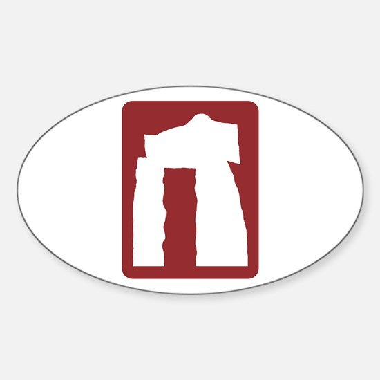 Prehistoric Site/Monument, UK Oval Decal