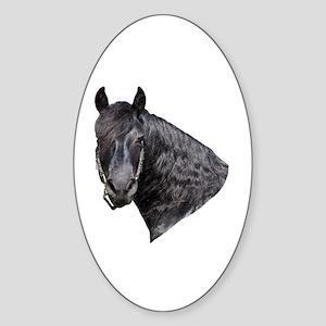 """Friesian 6"" Oval Sticker"