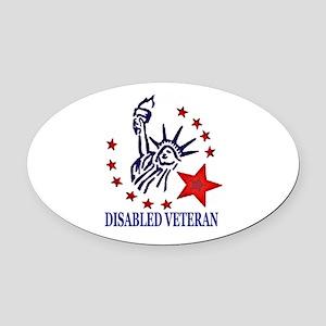 Disabled Veteran Oval Car Magnet