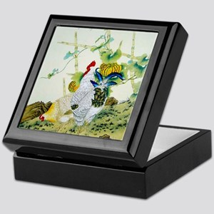Nature & Rooster Motif Keepsake Box