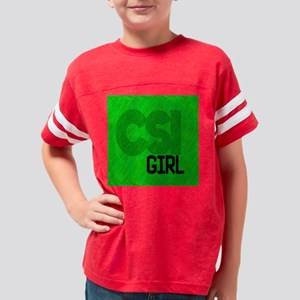 CSI Girl Throw Pillow Youth Football Shirt