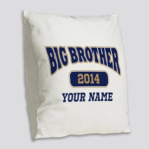 Personalized Big Brother Burlap Throw Pillow