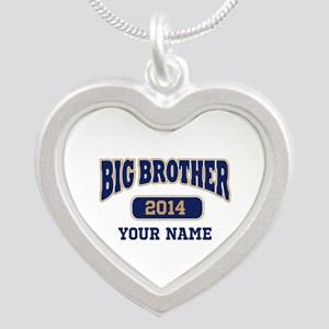 Personalized Big Brother Silver Heart Necklace