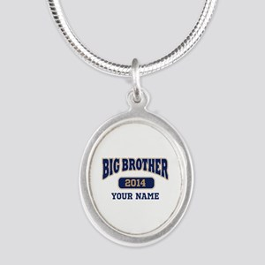 Personalized Big Brother Silver Oval Necklace