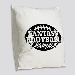 Personalized Fantasy Football Burlap Throw Pillow
