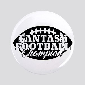 "Personalized Fantasy Football 3.5"" Button"