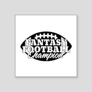 """Personalized Fantasy Football Square Sticker 3"""" x"""