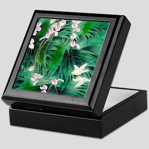 Floral & Bird Motif Keepsake Box