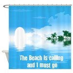 Beach is Calling Shower Curtain