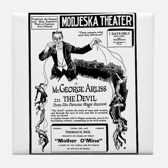 George Arliss The Devil Tile Coaster