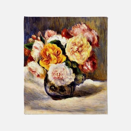 Renoir: Bouquet of Roses Throw Blanket