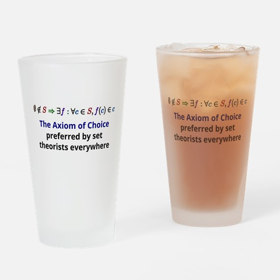 The Axiom of Choice Drinking Glass