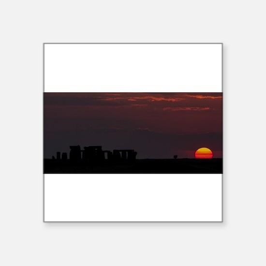 Stonehenge Sunset Sticker