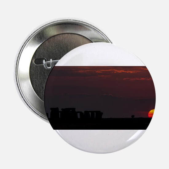"""Stonehenge Sunset 2.25"""" Button"""