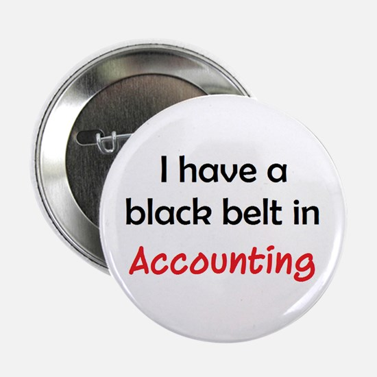 """accounting black belt 2.25"""" Button"""