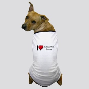 I Love (Heart) Agricultural S Dog T-Shirt