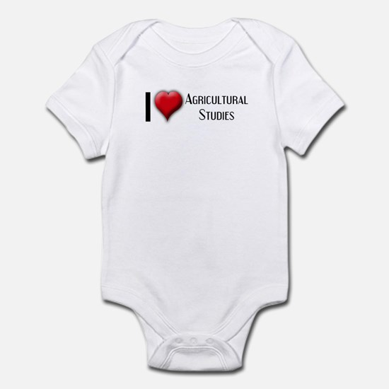 I Love (Heart) Agricultural S Infant Bodysuit