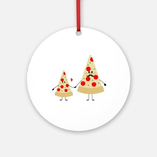 fathers day pizza Round Ornament