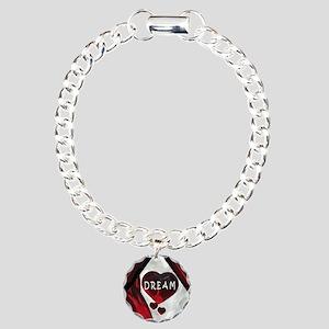 DREAM Hearts Charm Bracelet, One Charm
