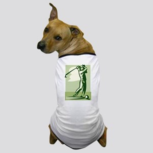 golf swing Dog T-Shirt