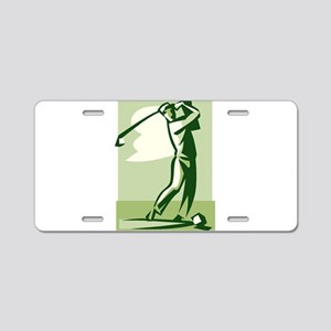 golf swing Aluminum License Plate