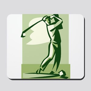 golf swing Mousepad